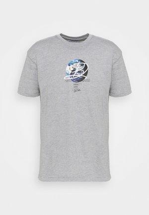 GLOBE TEE UNISEX - Print T-shirt - grey marl