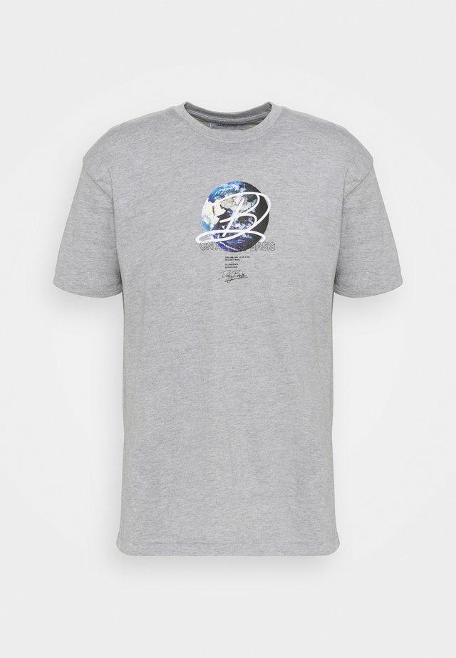 GLOBE TEE UNISEX - T-shirt imprimé - grey marl