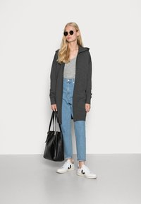 edc by Esprit - LONG HOODED - Cardigan - anthracite - 1
