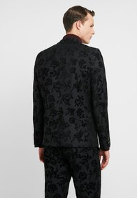 Twisted Tailor - KATRIN SUIT FLORAL FLOCK - Completo - charcoal - 3