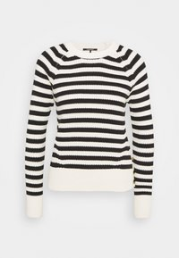 Scotch & Soda - CHUNKY BLEND WITH BUTTON DETAIL AT SIDE - Jumper - off-white/black - 0