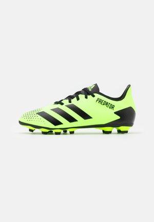 PREDATOR 20.4 FOOTBALL BOOTS FIRM GROUND - Scarpe da calcetto con tacchetti - signal green/core black