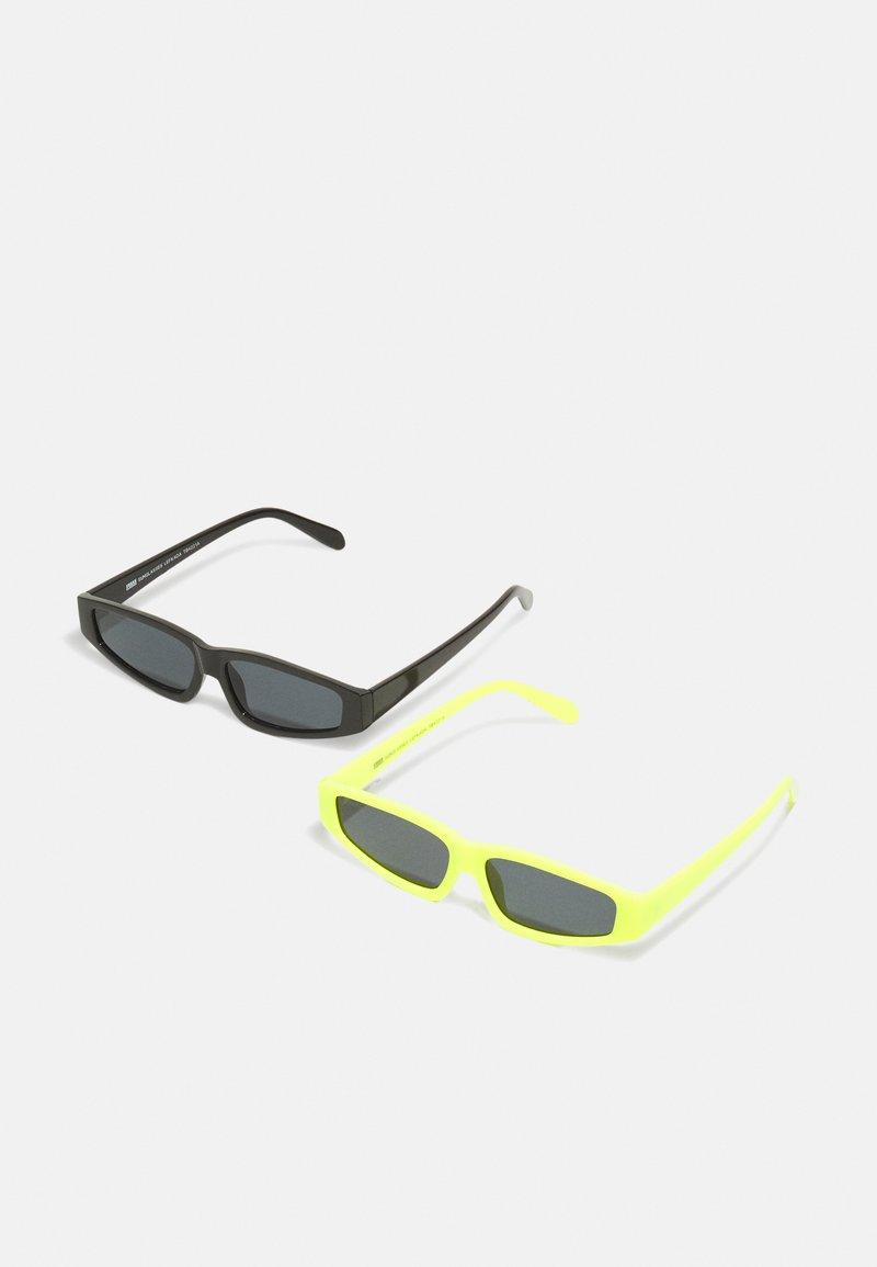 Urban Classics - SUNGLASSES LEFKADA UNISEX 2 PACK - Sluneční brýle - neonyellow/black