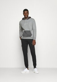 CLOSURE London - CONTRAST HOOD WITH TAPING - Hoodie - grey - 1