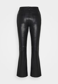 STUDIO ID - AMBER  - Leather trousers - black - 6