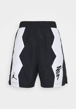 ZION SHORT - Korte broeken - black/white