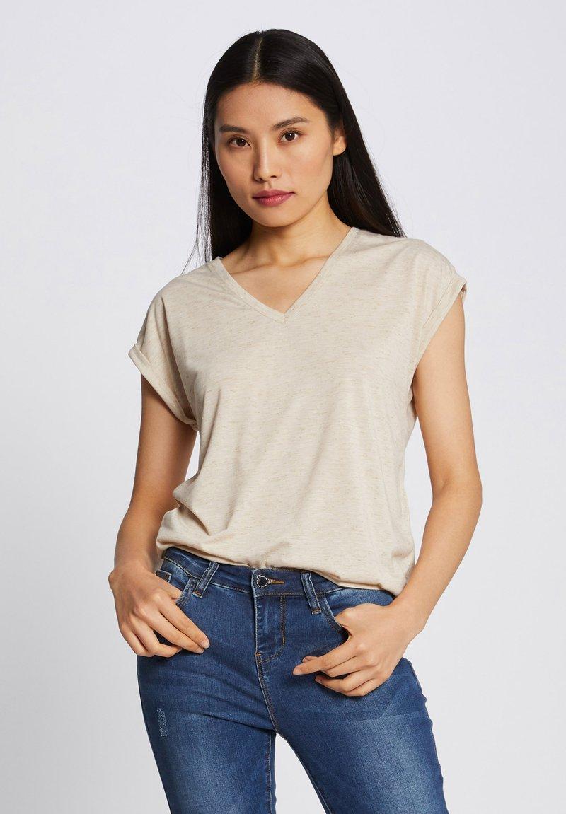 Morgan - Print T-shirt - beige
