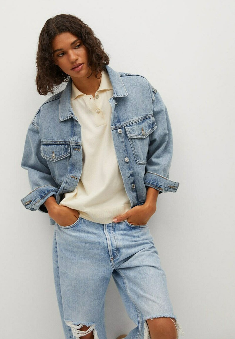 Mango - Denim jacket - bleu moyen