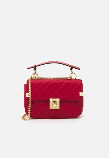 RHIRERIA - Across body bag - red/gold-coloured