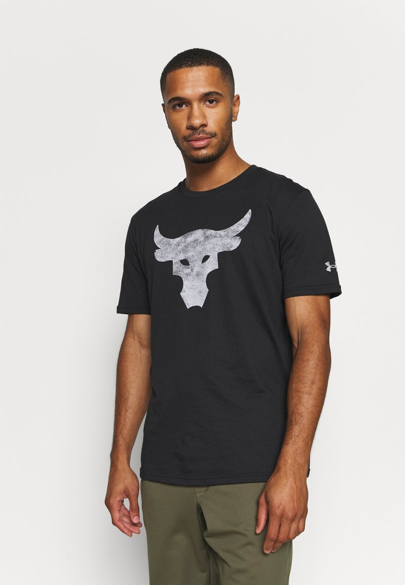 Under Armour - ROCK BRAHMA BULL - Print T-shirt - black/offwhite
