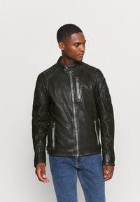 Gipsy - HALOW - Leather jacket - black - 3