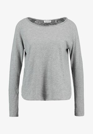 HEAVY LONGSLEEVE - Long sleeved top - grey melange