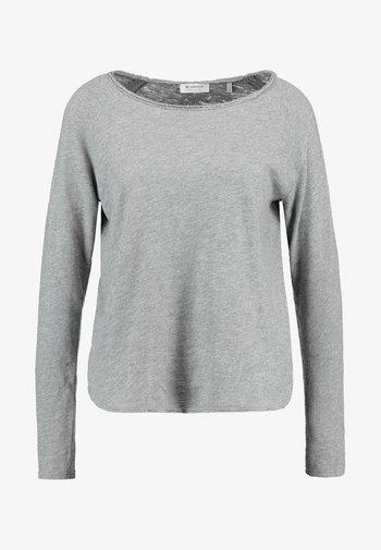 HEAVY LONGSLEEVE - Long sleeved top - grey melange
