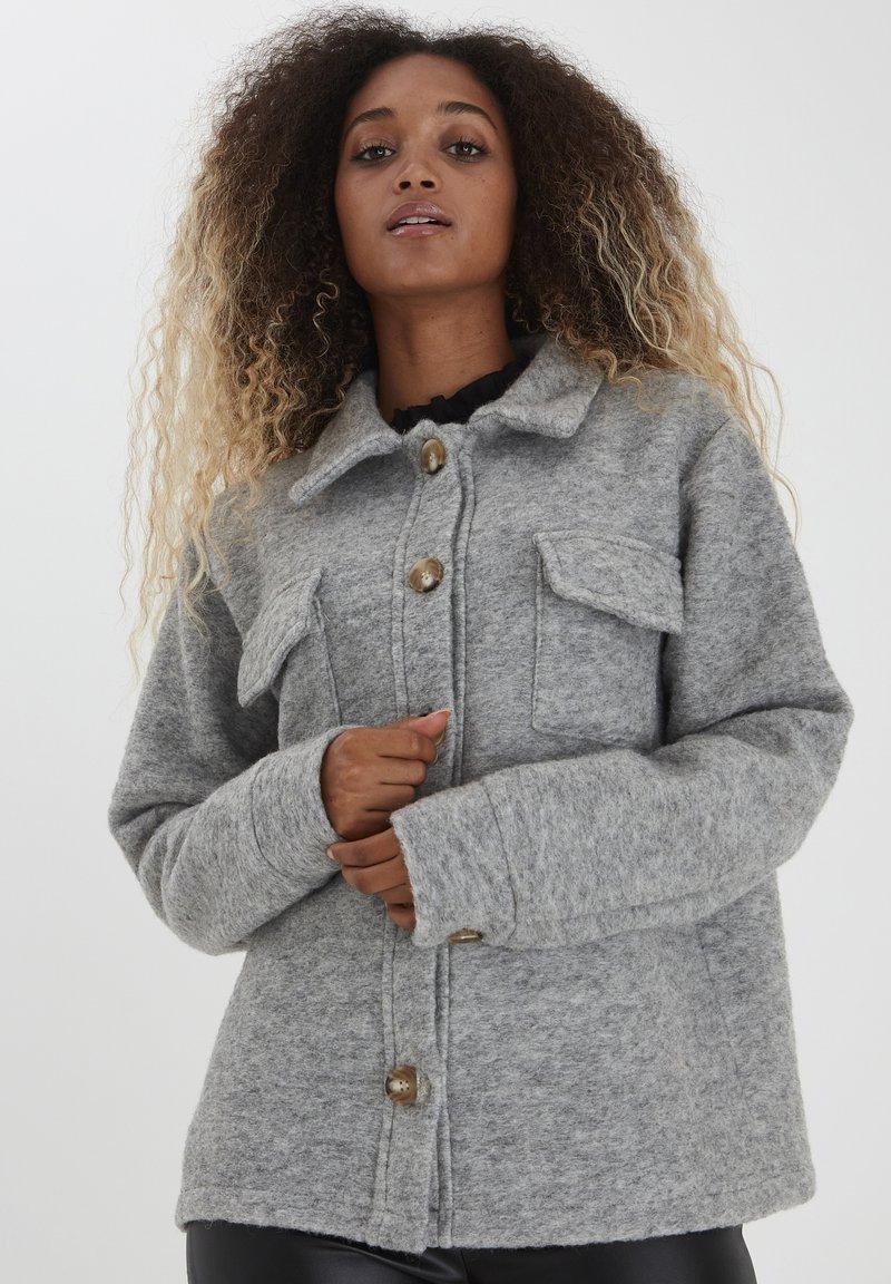 b.young - Summer jacket - light grey melange