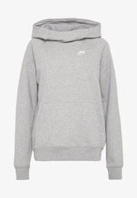Nike Sportswear - Felpa con cappuccio - grey heather/white - 3