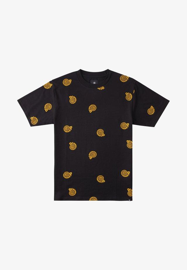 UNRULY - T-shirt imprimé - black spiral