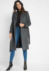 ORSAY - MIT BINDEGÜRTEL - Classic coat - dunkelgrau meliert - 1