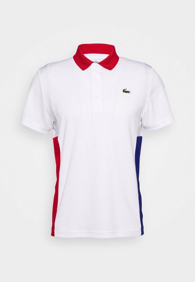 TENINS  - Polo shirt - white/red/cosmic black