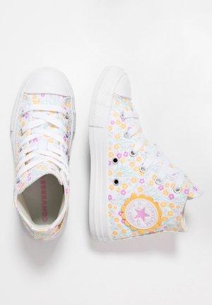 CHUCK TAYLOR ALL STAR FLORAL - Vysoké tenisky - white/topaz gold/peony pink