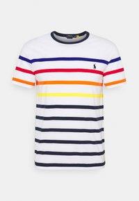 Polo Ralph Lauren - CUSTOM SLIM FIT STRIPED CREWNECK T-SHIRT - Print T-shirt - white multi - 0