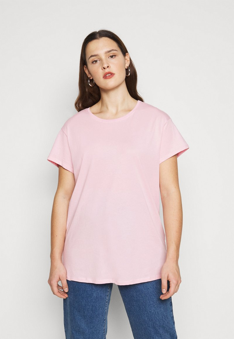 New Look Curves - BOYFRIEND TEE - T-shirt basique - mid pink