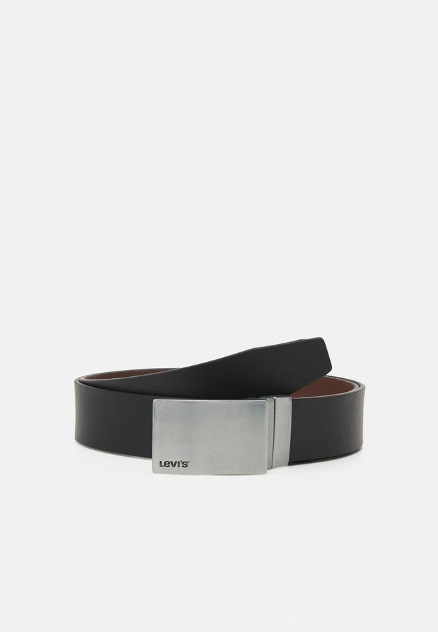 REVERSIBLE MINIMAL PLAQUE BELT - Pásek - regular black