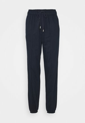 WARM DRAWSTRING - Tracksuit bottoms - navy