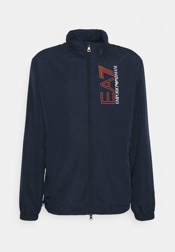 Summer jacket - dark blue/orange