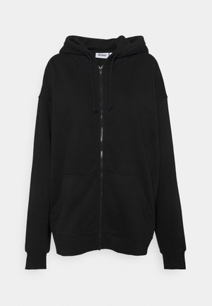 HUGE ZIP HOODIE - Collegetakki - black
