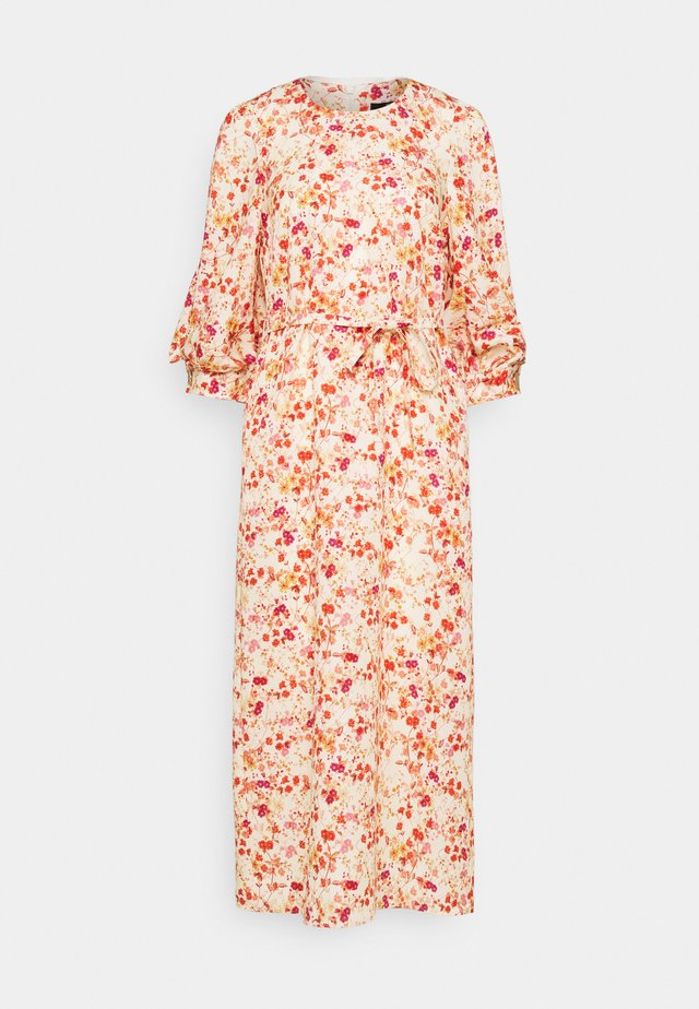 MIDI DRESS WITH TUCKS IN SLEEVE - Długa sukienka - sepia blossom