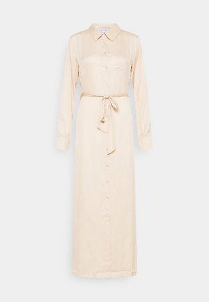 BELTED DRESS - Długa sukienka - beige