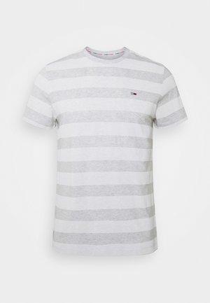 HEATHER STRIPE TEE - T-shirt imprimé - white