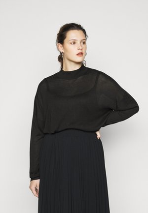 HIGH NECK JUMPER - Strikkegenser - black