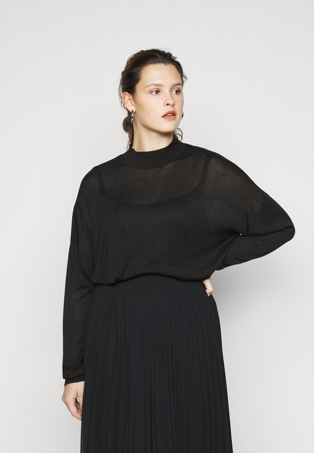 HIGH NECK JUMPER - Jumper - black