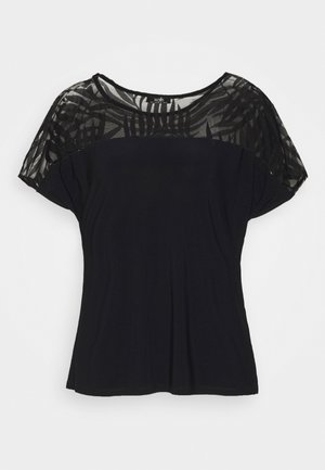 PALM DEVOURE TOP - Print T-shirt - black