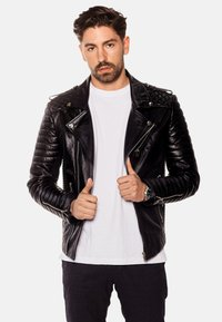 LEATHER HYPE - JORDAN PERFECTO - Leather jacket - black - 0