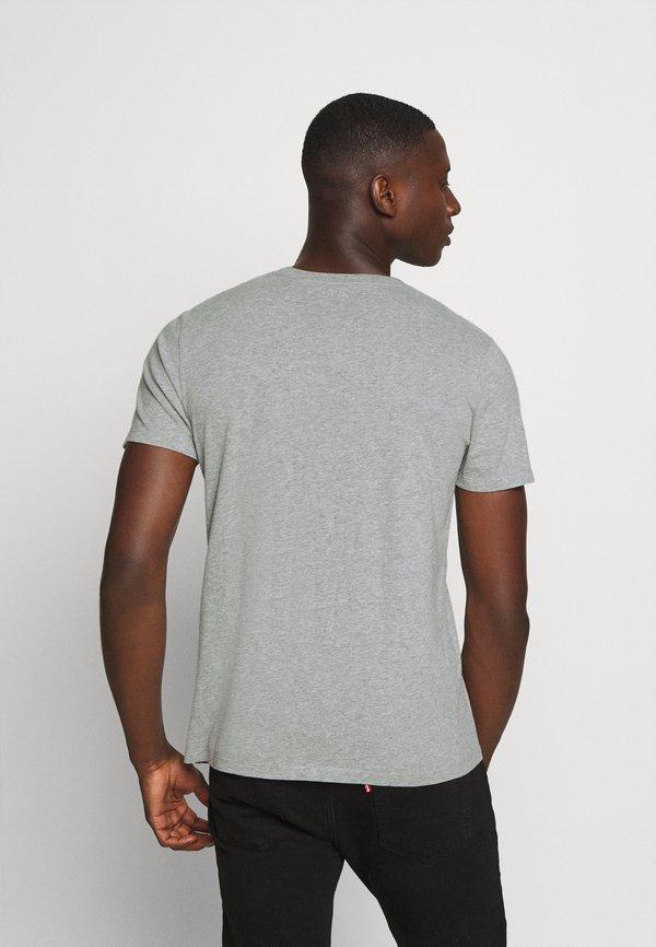 Abercrombie & Fitch CREW 5 PACK - T-shirt basic - white/grey/blue/charcoal/navy/biały Odzież Męska HGBX
