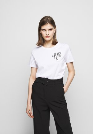 ANISIA - T-shirt con stampa - weiss