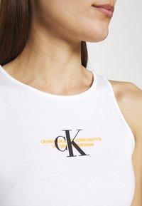 Calvin Klein Jeans - URBAN LOGO TANK DRESS - Jersey dress - bright white - 4