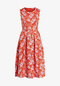 Oui - Day dress - orange blue - 4