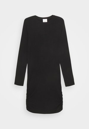 BASIC DRESS SUSTAINABLE - Žerzejové šaty - black