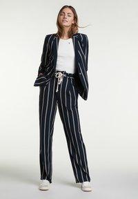 Oui - Trousers - dark blue white - 1