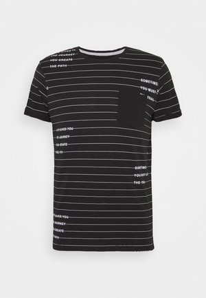 ECHOLS - T-shirt med print - black