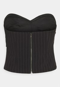 Who What Wear - TWISTED STRAPLESS - Top - black - 1