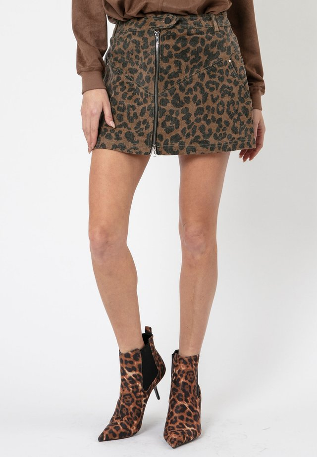 ASTEROID - A-line skirt - bitter/black