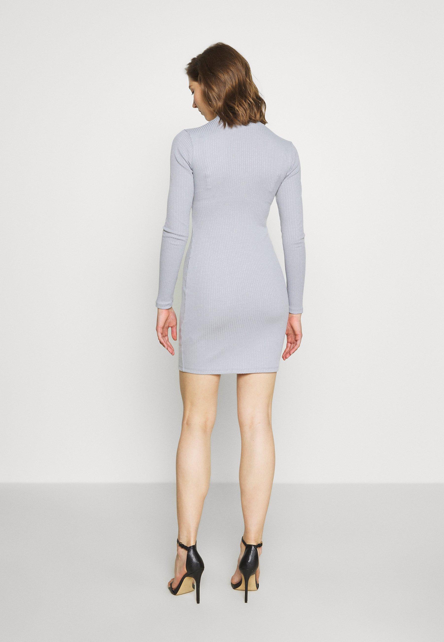 Nly by Nelly BIKER DRESS Jerseyklänning grey Zalando.se