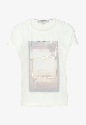 LAYER MIT CHIFFON-FRONT - Print T-shirt - white layered photoprint