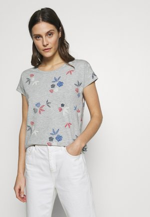 TEE - Print T-shirt - light grey