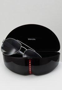 Prada Linea Rossa - Sunglasses - dark grey metal rubber - 2
