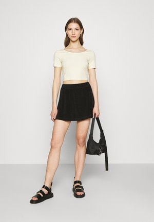 DREJA 2 PACK - T-shirt basic - black dark/yellow dusty light